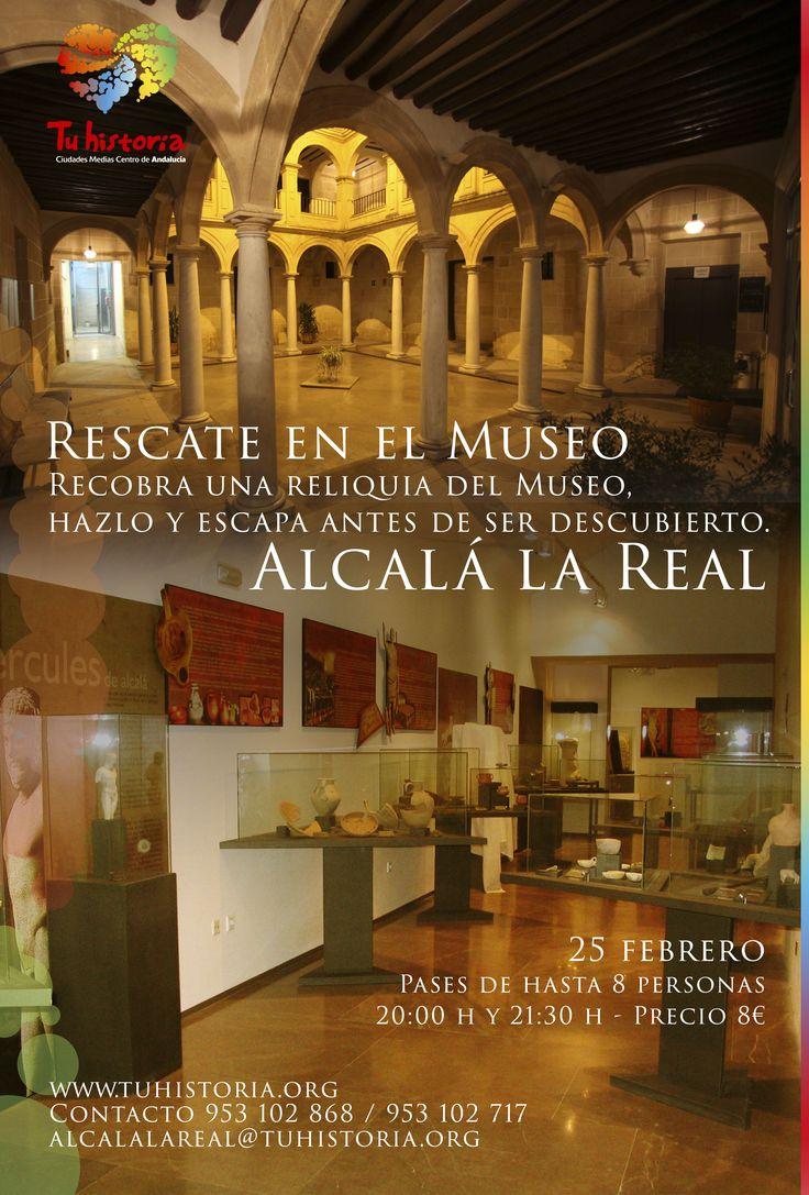 Próximo 25 de febrero disfruta de la experiencia Rescate en el Museo en #AlcalálaReal. Pases de hasta 8 personas 20,00h y 21,30h