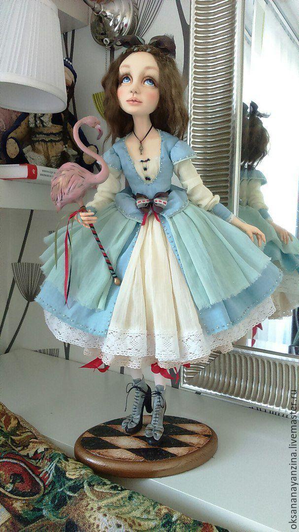 """Купить """"Алиса в Стране Чудес"""". - голубой, ладолл, алиса в стране чудес, алиса в зазеркалье, шляпник"""