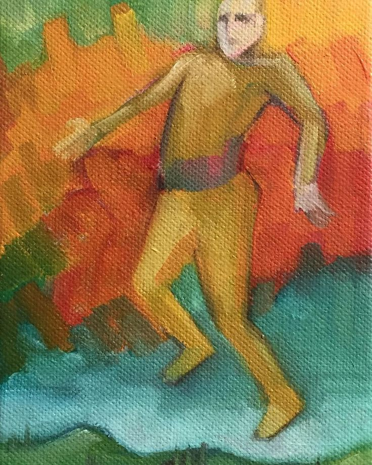 A man and his dreams, 2016 #small #painting #oiloncanvas #sandronocentini
