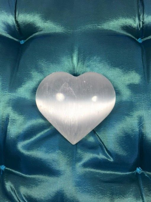 Selenite crystal gemstone healing heart large #1. On sale now for only $16!! Get yours here http://www.divineaura.com.au/product/selenite-heart-large/ and join our Facebook family @ www.facebook.com/divineaura123