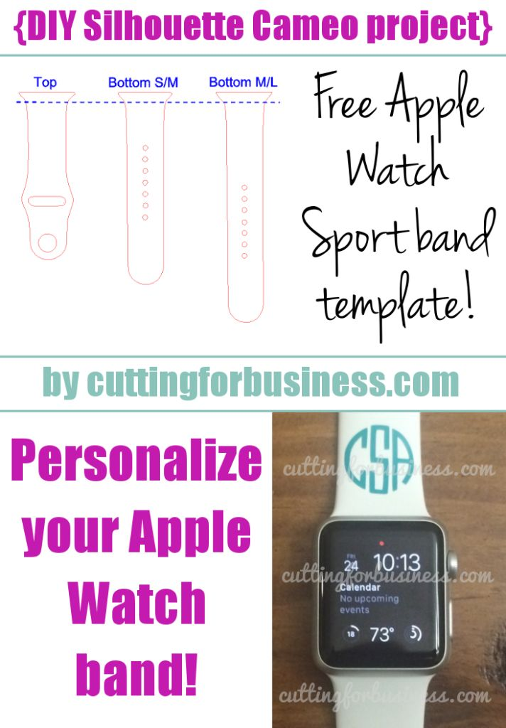 Stay on top of trends and make extra money - Free Apple Watch band template for…
