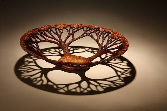 Turned Wood tree of life. Add some amber glass inside and this would make a great light fixture.