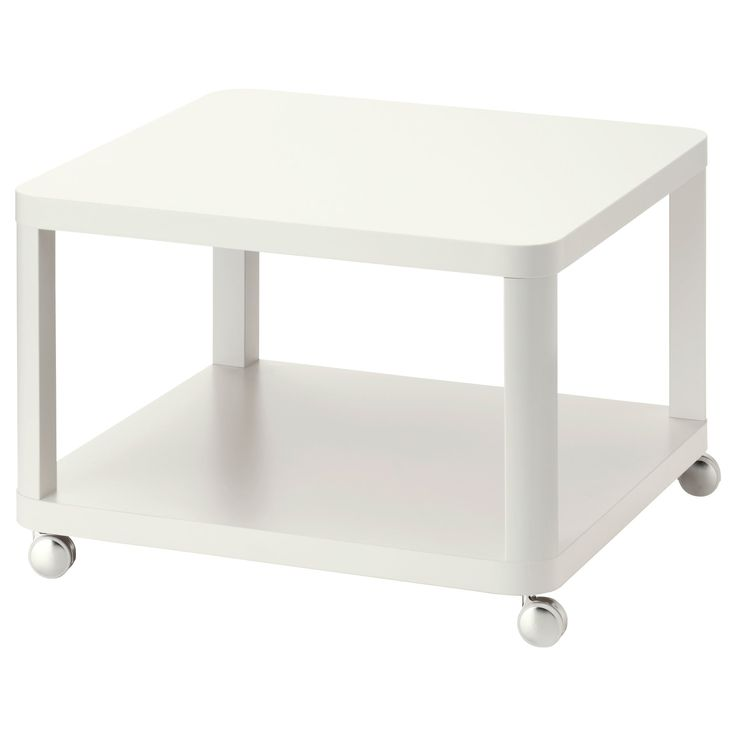 Ikea Coffee Table On Casters: TINGBY Side Table On Casters, White