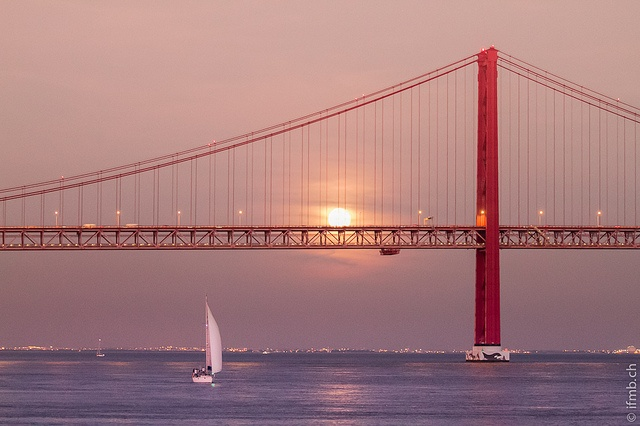 Lisbon, Portugal,  the twin sister of San Francisco,  from the town to the bridge