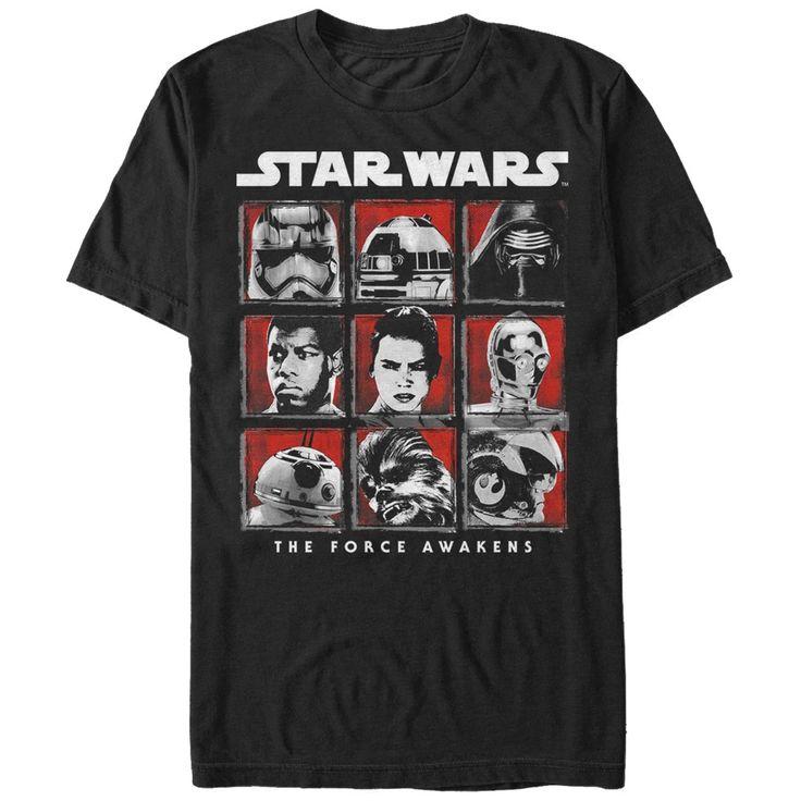 Star Wars The Force Awakens Men's - Episode 7 Cast T Shirt #starwars #theforceawakens