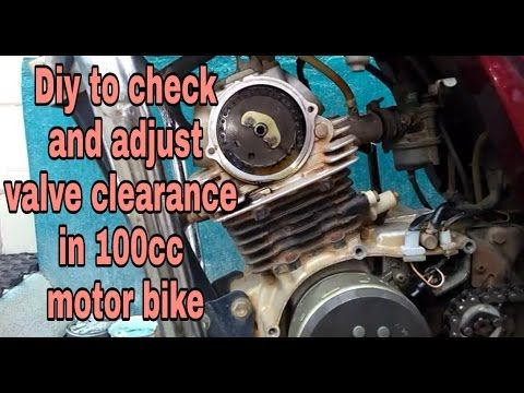 Diy video to check and adjust valve clearance in 2 valve system 100cc mo...