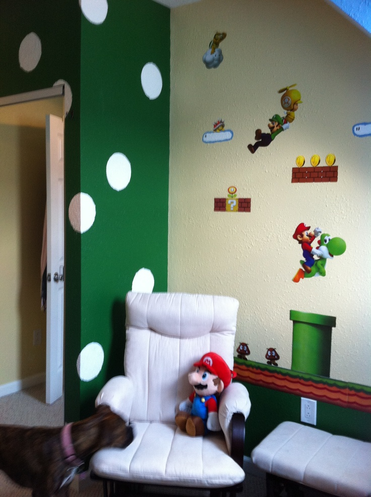 Super Mario Bros Room Maybe Red With White Spots