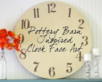 21 best diy pottery barn copy cat images on pinterest for Whatever clock diy