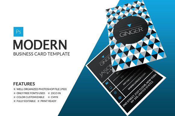 Modern Business Card by Business Card on @creativemarket