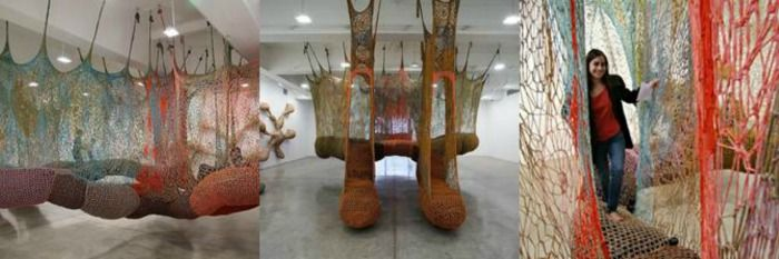 """The Island Bird"" by Ernesto Neto at the NGV International"