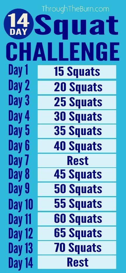 14 Day Squat Challenge - Need a killer squat workout plan for the next two weeks? Here ya go