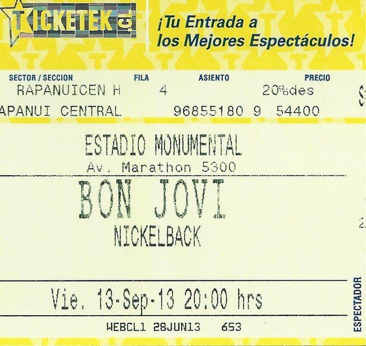 Bon Jovi and Nickelback - Live in Santiago, Chile 24-09-2013