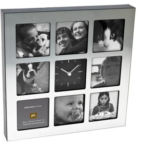 WANTED Square Zegar z ramkami na zdjęcia - cena od 139 zł - via http://bit.ly/epinner