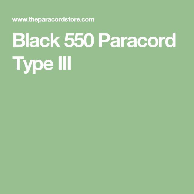 Black 550 Paracord Type III