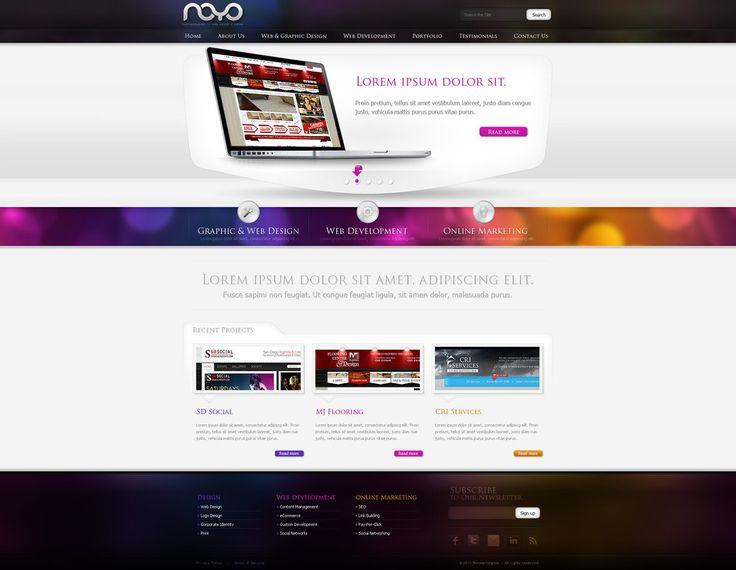 Web design: NOYO webdesign by *VictoryDesign on deviantART