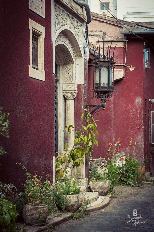 Houses in Bucharest, Romania.