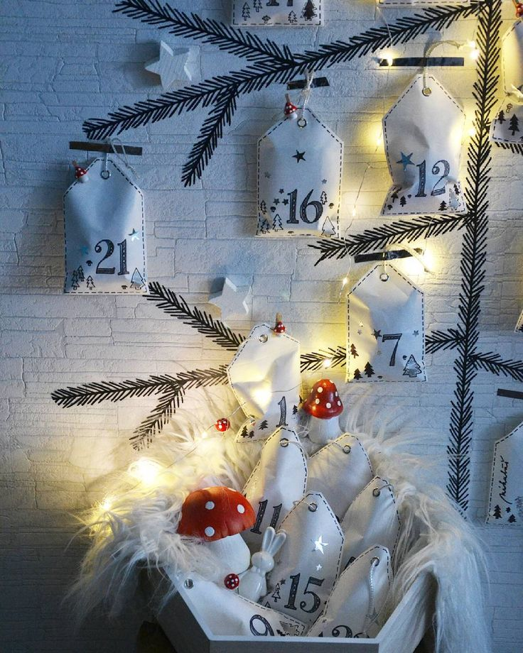 "radka na Instagramu: ""Mam hotovo a nemuzu se dockat az prcek dorazi po treninku... #adventnikalendar#muschrooms #advent#christmascalendar #diy#homemade#creative#vanoce#vabocni#son#xmascalendar#paper#washi#trees#christmastree"""