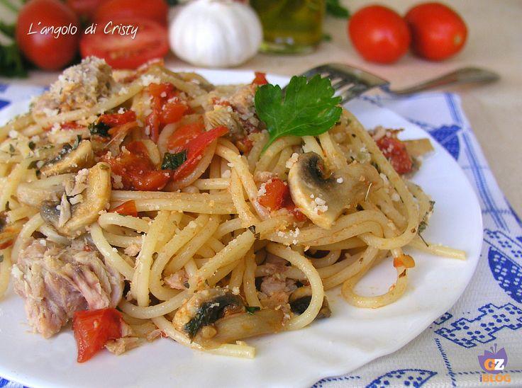 Un primo piatto di spaghetti alla carrettiera davvero molto invitante gustoso e nutriente , tipico della cucina Mediterranea!