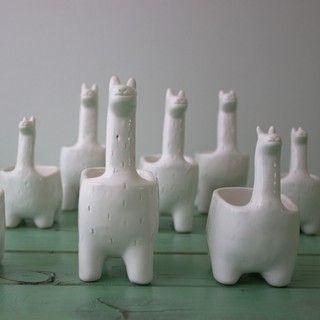 Maceta llama de cerámica