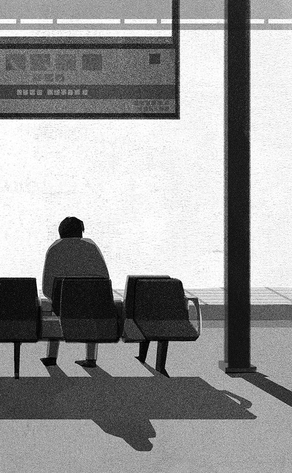 Mihoko Takata adds drama to daily life with her monochrome illustrations.