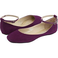 Purple. Suede. Flats.  With ankle straps! 'Nuff said. #shoes