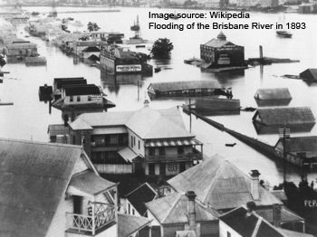 Brisbane River Flood History - Brisbane Australia. History Queensland