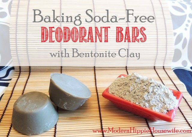 Baking Soda Free Deodorant Bars with Bentonite Clay - Modern Hippie Housewife