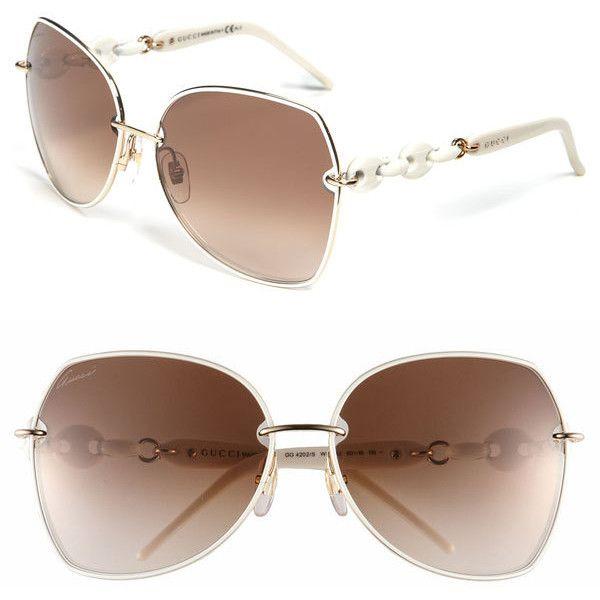 Gucci 'Italian Collection - Retro' Sunglasses | Nordstrom found on Polyvore
