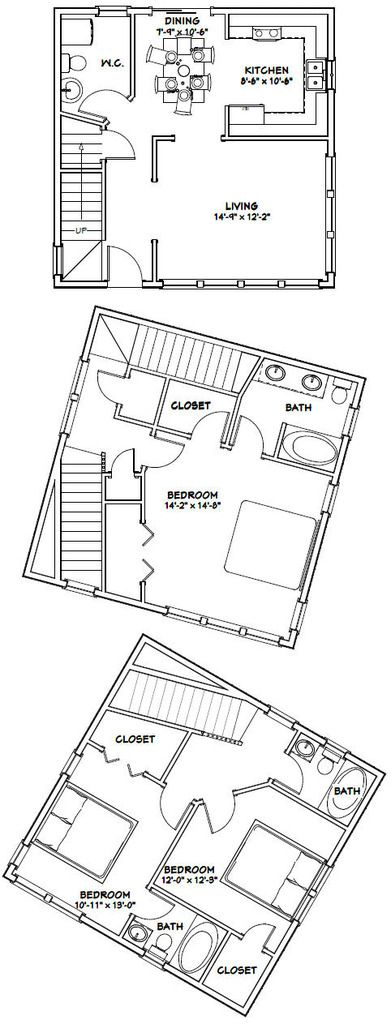 125 best images about desain rumah on pinterest bedroom 24x24 floor plans