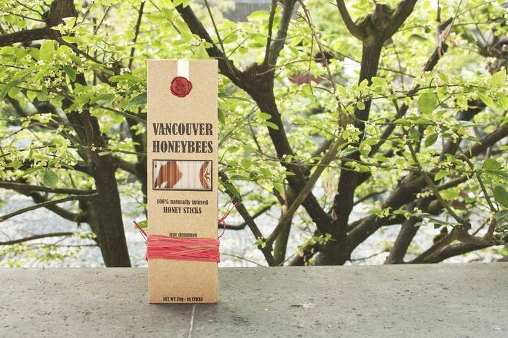 Vancouver Honeybees Honey Sticks Cinnamon / $9.99