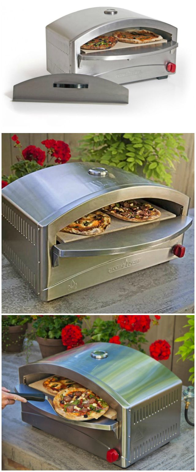 Whether you're in the comfort of your own backyard patio or roughing it at the campsite, the Camp Chef Italia Artisan Pizza Oven enables you to enjoy true artisan-style pizza.