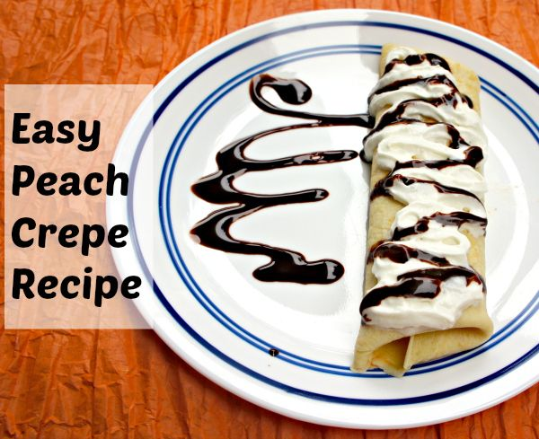 Peach Crepe Recipe #FreshFinds #shop #cbias