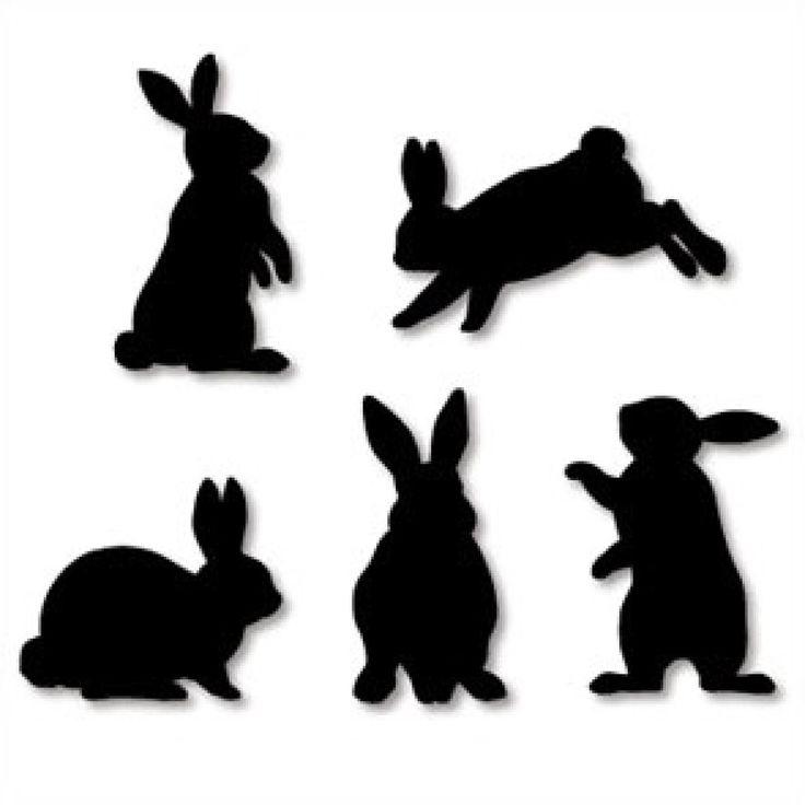 Силуэт зайца картинка