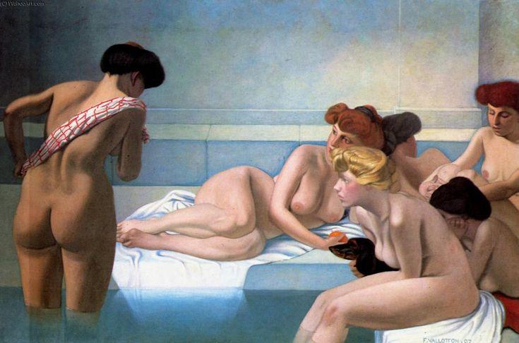 Le bain turc, huile sur toile de Felix Vallotton (1865-1925, Switzerland)
