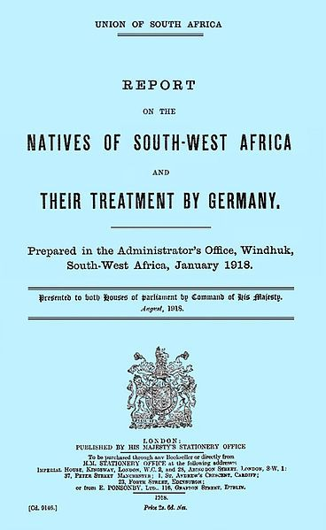 """File:Blubk bluish.jpg Cover of the 1918 British Bluebook, originally available through His Majesty's Stationery Office. In 1926, except for archive copies, it was withdrawn and destroyed following a """"decision of the then Legislative Assembly"""""""