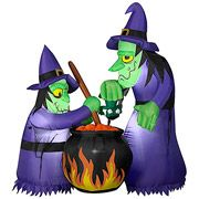 Gemmy 6'H x 4'W Airblown Halloween Inflatable Double Bubble Witches with Cauldron (9) Makes outdoor decorating quick and easy Provides maximum impact with minimum effort Size: 6'H Online $68.00