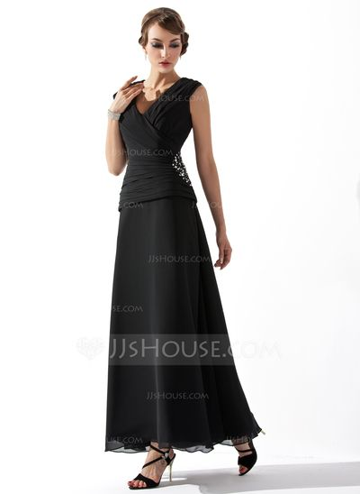 Mother of the Bride Dresses - $116.99 - A-Line/Princess V-neck Ankle-Length Chiffon Mother of the Bride Dress With Ruffle Beading (008005756) http://jjshouse.com/A-Line-Princess-V-Neck-Ankle-Length-Chiffon-Mother-Of-The-Bride-Dress-With-Ruffle-Beading-008005756-g5756?snsref=pt&utm_content=pt