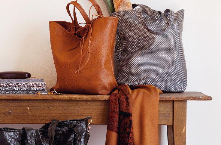 Kunstledertaschen für den Einkauf.Geht auch mit Leder - gratis Pdf Schnittmuster