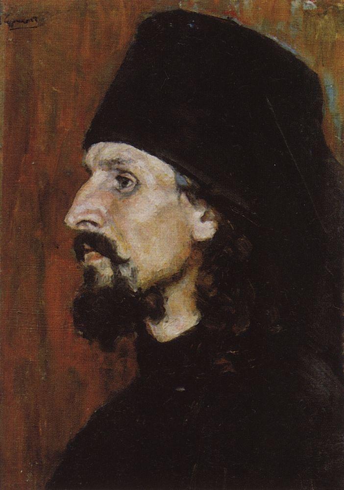 монах Василий Суриков. Галерея живописи. Монах.1900-е