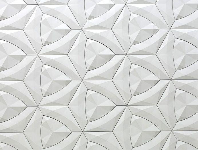 Organic Geometric Concrete Tile by KAZA Concrete concrete tile collection 0 in Wallcoverings