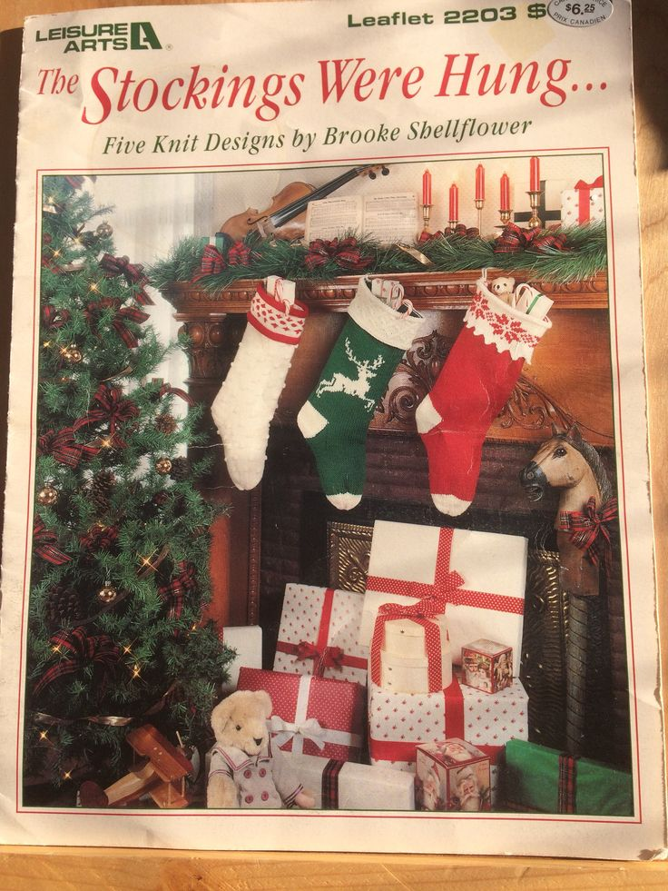 A personal favorite from my Etsy shop https://www.etsy.com/ca/listing/567814207/knit-christmas-stockings-pattern