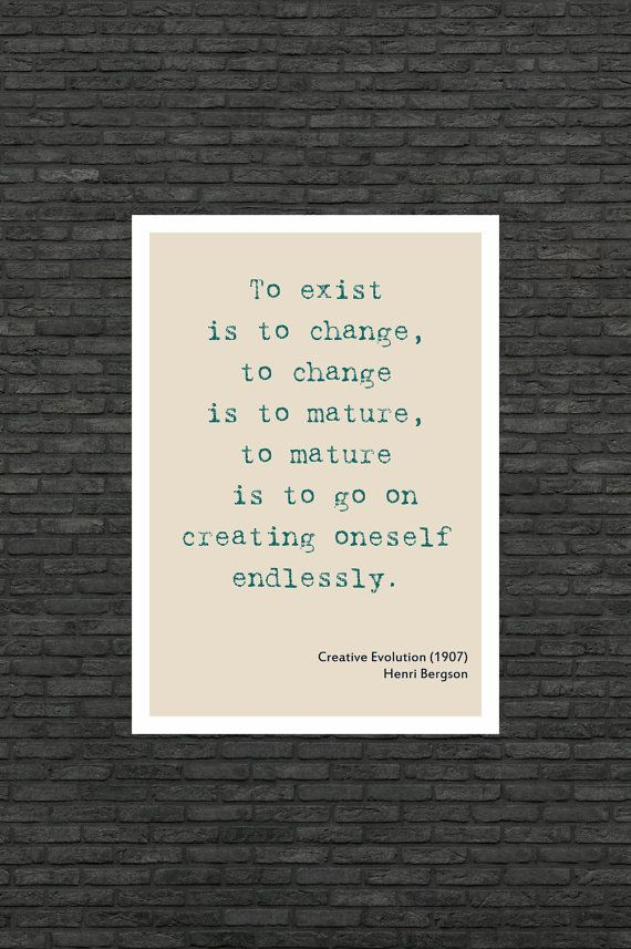 Philosophy art - Henri Bergson inspirational quote - educational poster by frameitposters