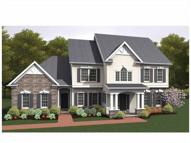 Colonial House Plan with 2860 Square Feet and 4 Bedrooms from Dream Home Source | House Plan Code DHSW75165 --- my dream house!!