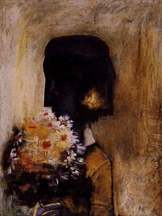 Girl with flowers | Charles Blackman...