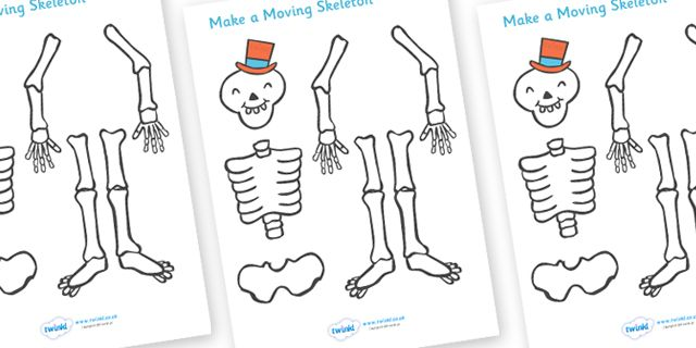 Twinkl Resources >> Funny Bones Making a Moving Skeleton  >> Classroom printables for Pre-School, Kindergarten, Elementary School and beyond! Topics, Storybooks, Funny Bones, Activities
