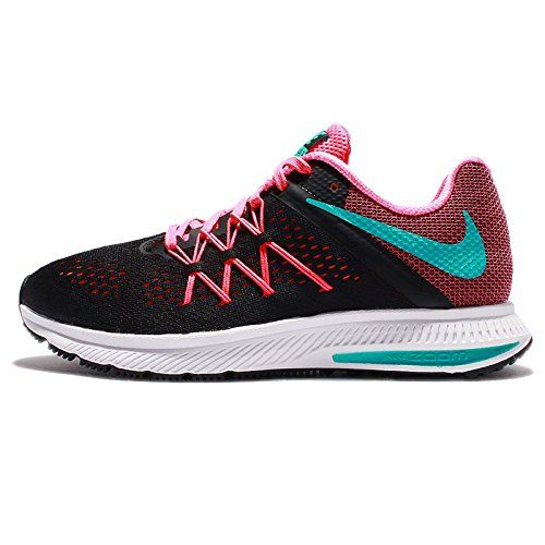 from amazon.com · Women's Wmns Zoom Winflo 3, BLACK/CLEAR JADE-PINK  BLAST-WHITE,