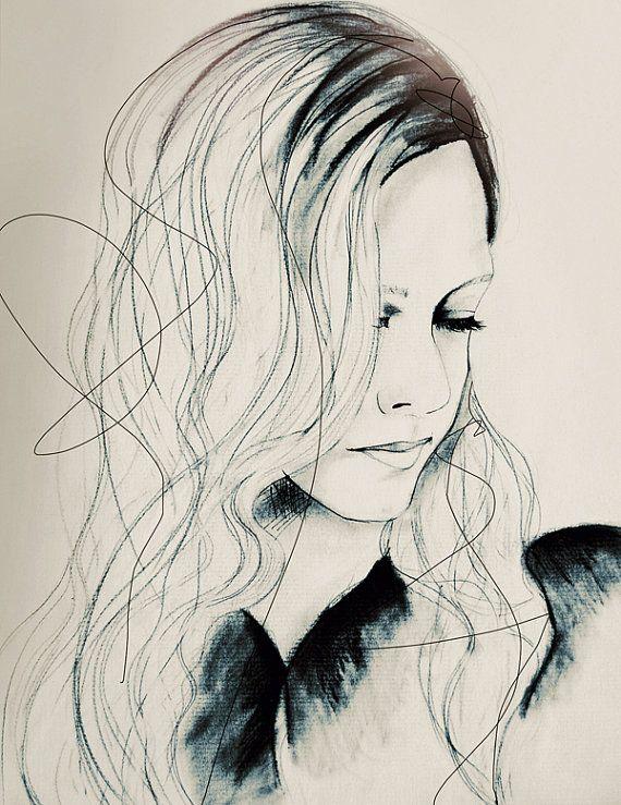 Aurora ~   Fashion Illustration Art Print by Leigh Viner