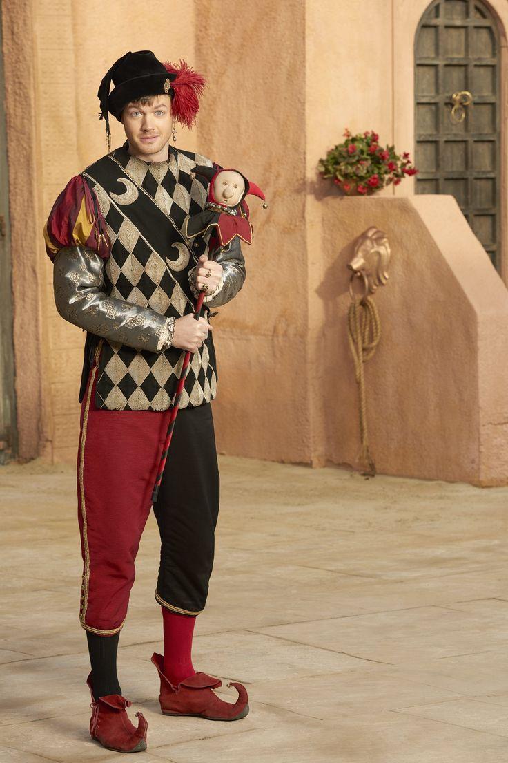 Ben Presley as Steve Mackenzie, the Jester in #Galavant - Season 2