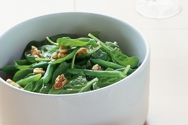 This simple warm spinach and bean salad is ready in under 20 minutes.