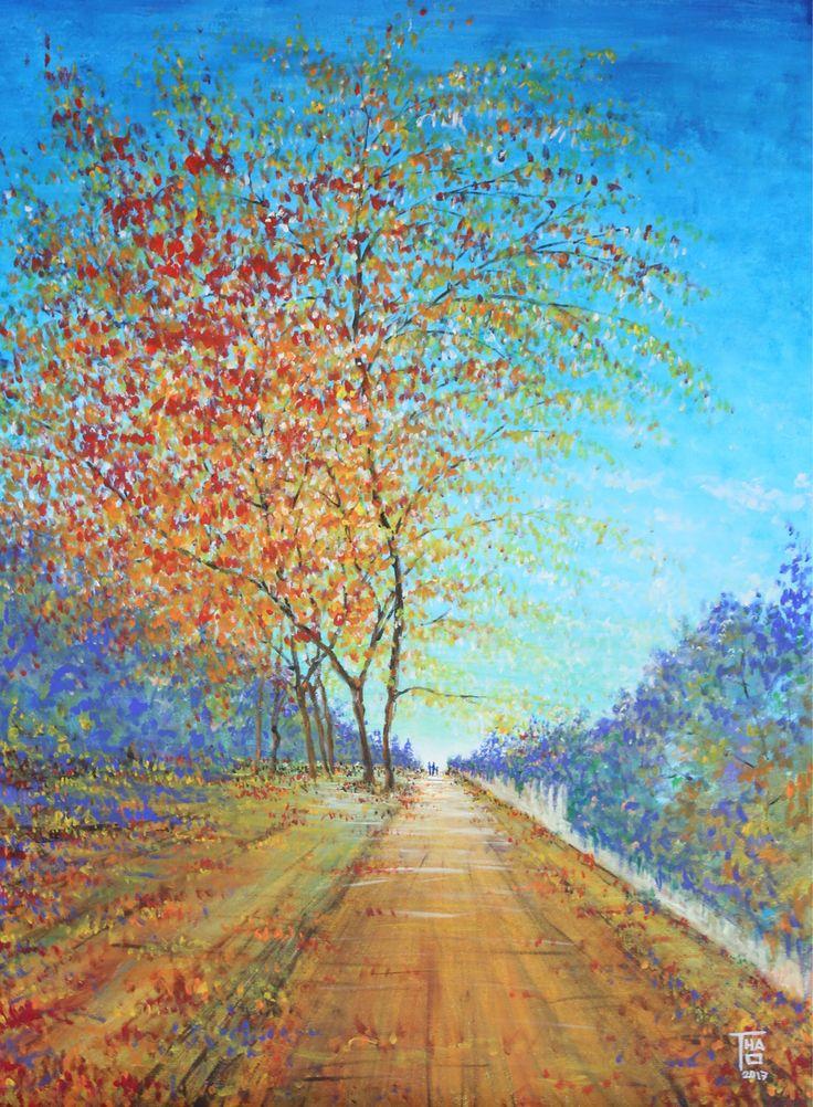 Autumn walk (2017) - Jan 2017 - THAO Acrylic - 81x60